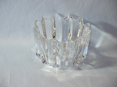 Vintage Orrefors Crystal Vase,  Corona Style, 12 Points, Signed, Excellent Cond.