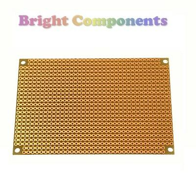 5x Stripboard (Vero Strip Prototyping Board) 64mm x 95mm - UK - 1st CLASS POST