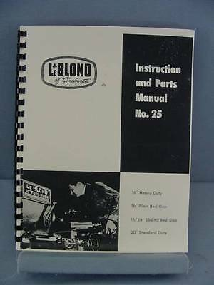 leblond regal lathe instruction parts manual bull picclick leblond 16rdquo 20rdquo lathe instruction parts manual