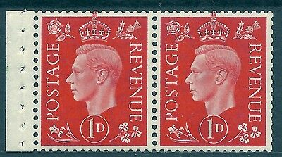 QB12 perf type I -1d Scarlet Booklet pane UNMOUNTED MINT