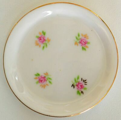 Pretty Unknown Small Display Plate Floral Estate Item D7014