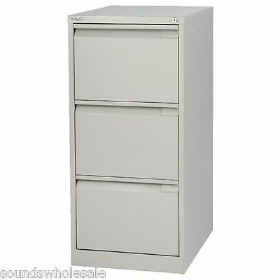 3 Drawer 'professional' Bisley Steel Filing Cabinet Grey -  A4 -  New