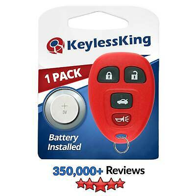 New Red Replacement Keyless Entry Remote Key Fob Clicker Control for 15252034