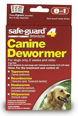 8 in 1 Safeguard 4 Canine Dewormer for Large Dogs 4 gram