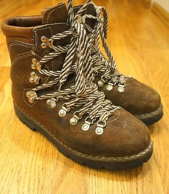 Thom Mcan vintage Hiking mountaineering logging work boots vibram Italy 7