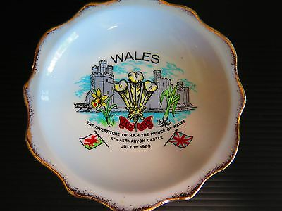 "Wales Souvenir Dish ""the Investiture Of H.r.h.the Prince Of Wales"""