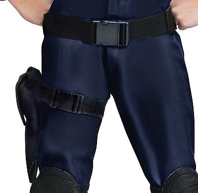 Adult Gun Holster Leg Pistol Belt Costume Accessory Web Mesh Army Police Officer