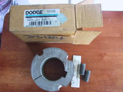 New In Box Dodge Split Taper Lock Bushing 117124 With Set Screws And Instruction