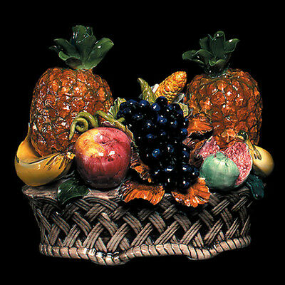 NEW Capodimonte Fruit Basket Centerpiece Porcelain Made in Italy