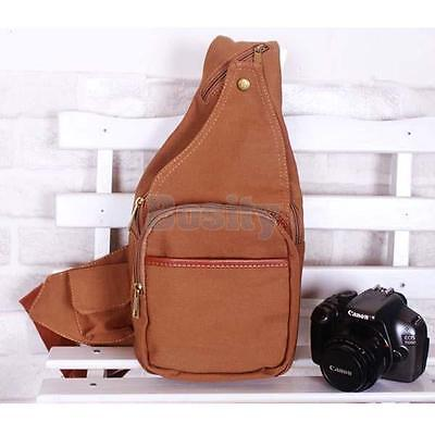 Canvas DSLR Lens Digital Camera Case Shoulder Bag Backpack For Nikon Sony Canon