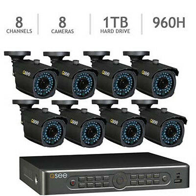 Q-See 8 Channel 960H Security System with 1TB HDD and 8 1000TVL Cameras