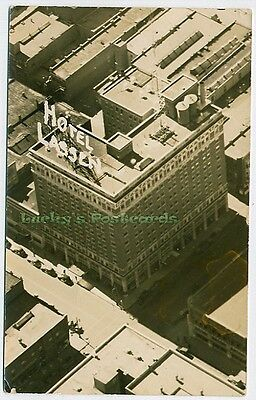HOTEL LASSEN Birds Eye View WICHITA Kansas - c1935 Photo POSTCARD RPPC KS
