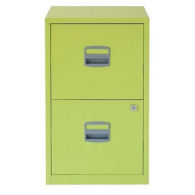 2 DRAWER BISLEY STEEL FILING CABINET / CITRUS GREEN / A4 NEW + FREE 24h COURIER