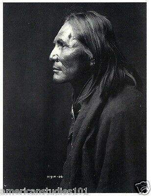 POSTCARD Apache Alchise Native American Indian EDWARD S. CURTIS PHOTOGRAPHER