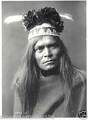 POSTCARD Apache Buck Hihlh Native American Indian EDWARD S. CURTIS PHOTOGRAPHER