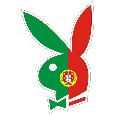 Sticker plastifié PLAYBOY PORTUGAL - 11cm x 7cm