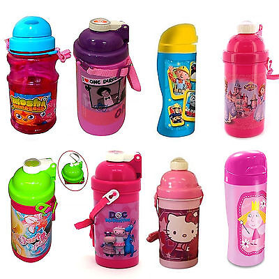 Dinsey & Kids TV Character School Lunch Drink Pop Up Canteen Water Bottle New