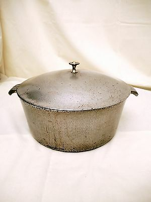 Vintage Hammered Aluminum Dutch Oven made for Sears with Lid 4 1/2 Quart