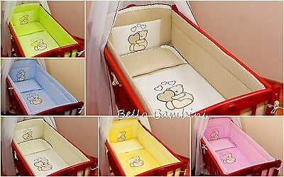All roundNurseryBumper260cm long/ Paded/ to fit Swinging Crib/Cradle 100% COTTON