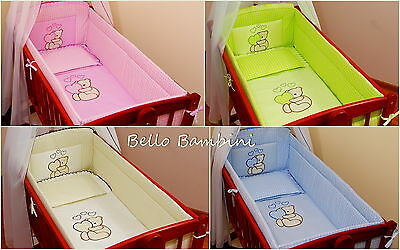 6 pcs bedding set /Bumper/sheet/duvet/ to fit baby Swinging Crib 100% COTTON
