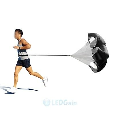 "60"" Speed Resistance Training Parachute Running Chute Football Training Black"