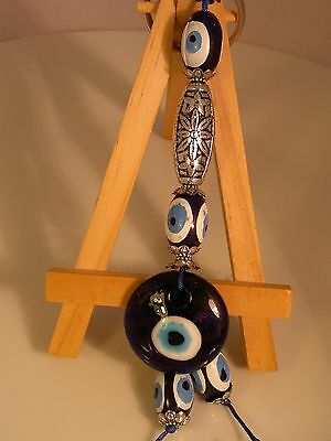 blue glass Pendant amulet charm evil eye NAZAR car wall hangings turkish
