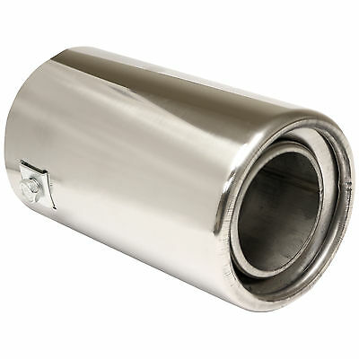 """3"""" Chrome Car Exhaust Trim Tail Pipe Muffler Finisher Tip - Universal Fit"""