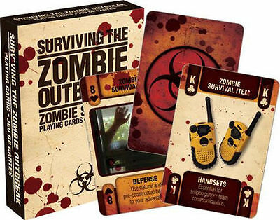 ZOMBIE OUTBREAK SURVIVAL - PLAYING CARD DECK - 52 CARDS NEW - APOCALYPSE 52257