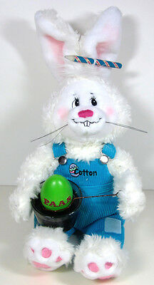 Annalee White Plush Stuffed Bunny Rabbit Coloring Paas Easter Eggs