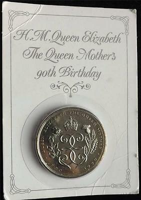 1900-1990 Queen Elizabeth The Queen Mother's 90Th Birthday £5 Five Pound Coin