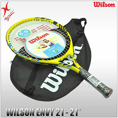 WILSON TENNIS RACQUET - ENVY 21 JUNIOR RACKET - 21 INCH - for Kids 5-6 years old