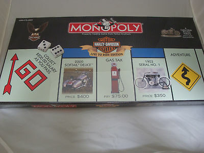 Harley Davidson motorcycle theme Monopoly Live To Ride Edition sealed Year 2000