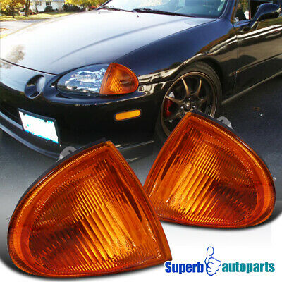 For 1993-1997 Honda Del Sol JDM Corner Signal Parking Lights Amber