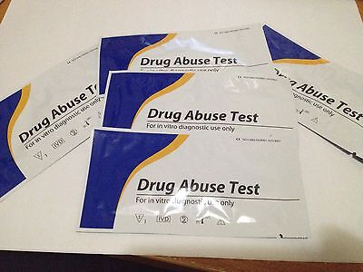 5 Marijuana (THC) weed pot Home Use Urine Drug abuse Test *Private Listing*