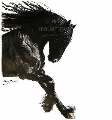 HORSE PRINTS FRieSiaN WaLL ART of Original Painting 'COOL DANCER' by SHIRLEY M