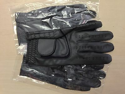 Set of 3 black JL Golf all weather synthetic gloves Size Medium large Mens