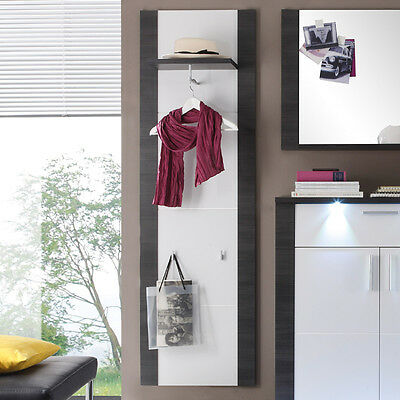garderobenpaneel esche grau wei paneel wandpaneel wandgarderobe flurm bel flur eur 109 00. Black Bedroom Furniture Sets. Home Design Ideas