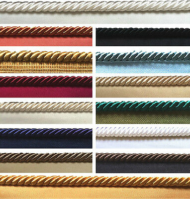 8mm Flanged Piping Cord / Rope, Upholstery, Cushions, Furniture, Craft Trimmings