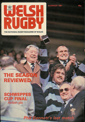 Welsh Rugby Magazine Summer 1981, New Dock Stars, Pyle, Penclawdd, Caerleon