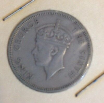 King George The Sixth Hong Kong Fifty Cents 1951 Coin