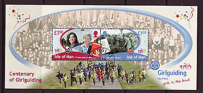 Isle Of Man 2010 Centenary Of Girl Guides Fine Used Miniature Sheet