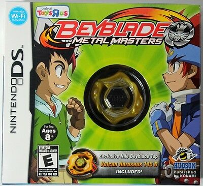 Nintendo DS BEYBLADE METAL MASTERS TOYS R US Horuseus Lite 3DS XL DSi NEW Sealed