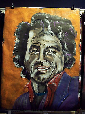 Huge painting James Brown father of funk music pop art signed by Artist Dan Engh