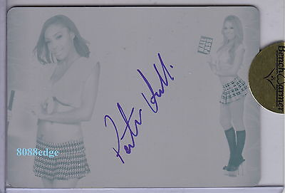 2011 Benchwarmer Print Plate Auto:patrice Hollis- 1/1 Autograph Playboy Playmate