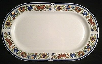 """Villeroy & Boch china TROUBADOUR oval serving platter 13"""" ( 9 available )"""