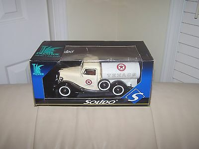 Solido- Texaco- Prestige 1936 Ford Tanker- Black Edition- Mib