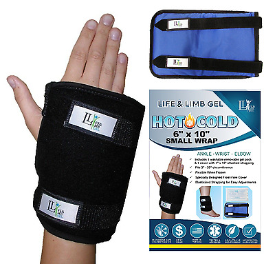 Hot Cold therapy Life and Limb Gel pack wrap for arm, wrist, hand, elbow, ankle