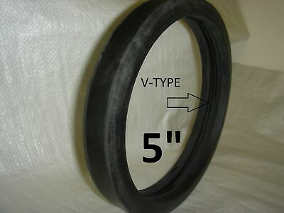 "5"" Hard V-Type Rubber Gaskets for Concrete Pumps-Pack of 12"