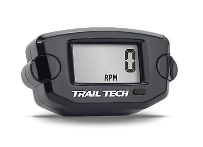 Trail Tech TTO Tach Hour Meter Black Digital Gauge Motorcycle Tachometer Engine