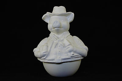 Ready to paint ceramic bisque - Mr Pig Roly Poly 18 cm tall Handcrafted Ornament